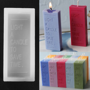 Silicone Candle Soap Mold Chocolate Baking Mould Wax Resin Casting Making Tool