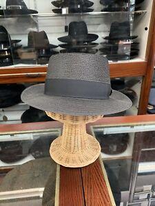 Dobbs Gate Men's Fedora Straw Hat Made In USA Size 7
