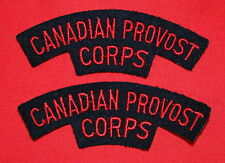 Cloth Shoulder Flashes-Canadian Provost Corps