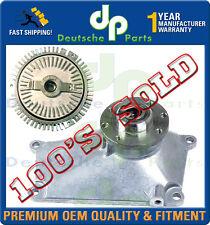 MERCEDES W202 C280 Radiator Fan Clutch + COOLING PULLEY Bearing Bracket SET 2