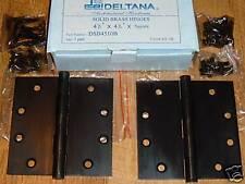 Deltana Solid Brass Hinges DSB4501B  (2 hinges)