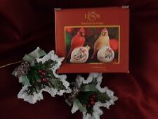 Lenox Winter Greetings Cardinals sitting on ornaments  Salt and Pepper...
