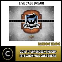 2016-17 UPPER DECK THE CUP (6) BOX FULL CASE BREAK #H214 - RANDOM TEAMS