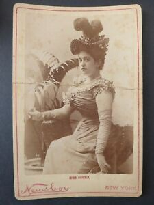 Antique 1890's Newsboy Burlesque Cabinet Photos N566 #64 Miss Howell