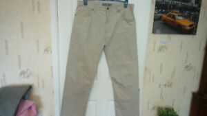 PREOWNED LOVELY M&S MENS FINE CORD JEANS COLOUR STONE WAIST 36 LEG 31 EX COND
