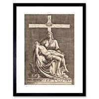 Painting Engraving Callot La Pieta Allegory Framed Print 9x7 Inch