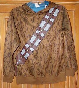 NEW Star Wars Chewbacca BOYS SIZE L hoodie zipper front jacket DISNEY
