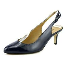 High (3 in. and Up) Leather Slingbacks Narrow (AA, N) Heels for Women