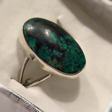 Vintage Taxco Mexico Bernice Goodspeed Rare Green Turquoise Sterling Silver Ring