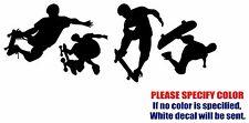 "Skateboard Man Graphic Die Cut decal sticker Car Truck Boat Window Bumper 12"""