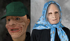 2 Old Man & Woman Mask Nana Drysack Adult Halloween Funny Couples Costume Masks