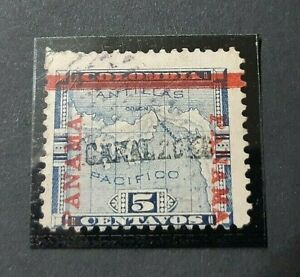 CANAL ZONE - Panamá . 1904 , sello nº 3. 210€