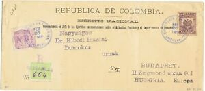 COLOMBIA 1904 Military inflation AR registered cover 1000 days war stamps rare