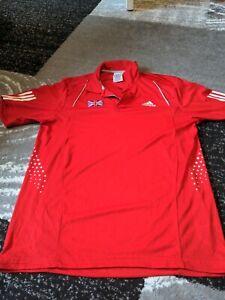 Adidas Great Britain Polo T Shirt Mens Medium Top player Olympics ?