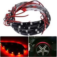 "4pcs 24"" Car Red LED Wheel Neon Glow Flexible Soft Strip Lights Fender Lamps"
