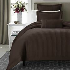 REAL SIMPLE Retreat European Sham Quilted Chocolate Brown