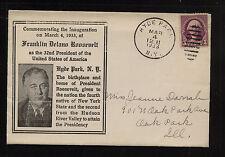 US  President Roosevelt Inauguration cachet cover  1933            KL0719