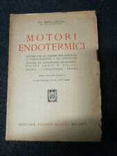 MOTORI ENDOTERMICI-ING. DANTE GIACOSA-HOEPLI-III ED RIVEDUTA 1946---------E9 FR