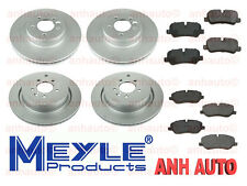 Front and Rear Disc Brake Rotors with Pad Sets Land Rover LR3 05-09 4.4L Meyle