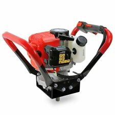 """2.3 HP Gas Powered Post Hole Digger W/2 Auger Bits 6"""" 10"""" 55cc Power Engine"""