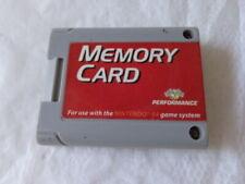 Nintendo 64 Game System N64 Memory Card Performance P-302E