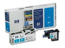 HP Cabezal de impresión DesignJet 5000 5000PS 5500 5500PS / C4951A Nr. 81 Cian