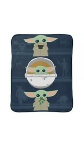 "Star Wars: The Mandalorian 'The Child' Baby Yoda 46"" x 60"" Plush Throw"