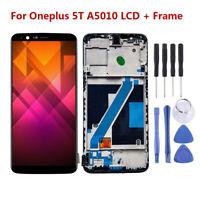 Schwarz Für ONEPLUS 5T A5010 LCD Display Touch Screen Digitizer Rahmen RHNDE