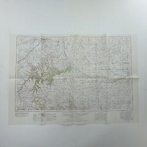 """VTG Topographic Map of La Junta Colorado 22"""" x 32"""" 1:250,000 Scale Revised 1977"""