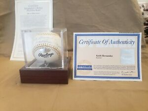 KEITH HERNANDEZ SIGNED GOLD GLOVE Baseball WITH CERTIFICATE.