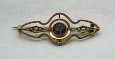 Amethyst Brooch/Pin Vintage Fine Jewellery (Unknown Period)