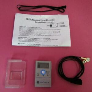 GE SEER Event + Ambulatory ECG Holter Monitor Recorder w/ ECG Cable & Case