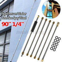 """US 90"""" 1/4"""" High Pressure Washer Extension Wand Replace Turbo Nozzle Spra"""