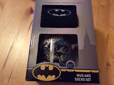BNIB New Boxed DC Comics Ceramic Mug & Socks Gift Set - Batman