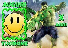 Cialda - Ostia per torte Hulk con tua foto. Personalizzabile! Anche A3!