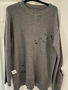 DROP DEAD - Large Mens Holy Jumper - RARE GREAT CONDITION