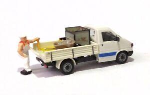 H0  1:87 Modell - Umbau / Gesupert - VW T4 Pritsche - Figur Werkzeug Plane