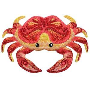 """Crab Applique Patch - Crustacean Ocean Creature 2.75"""" (Iron on)"""