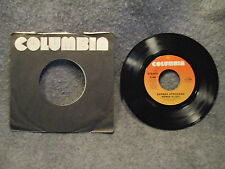 "45 RPM 7"" Record Barbra Streisand Woman In Love & Run Wild 1980 Columbia 1-11364"
