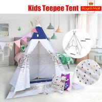 Kids Teepee Playhouse Wigwam Childrens Play Tent Garden Toys   U