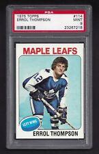 1975-76 Topps #114 Errol Thompson, PSA 9 MINT,Toronto Maple Leafs NHL Hockey