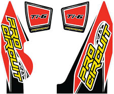 PRO CIRCUIT T-6 WRAP/END CAP DECAL YZ250F REPLACEMENT MUFFLER STICKERS