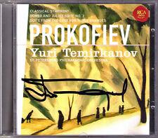 Yuri TEMIRKANOV Signed PROKOFIEV Classical Symphony Love for 3 Oranges Romeo CD