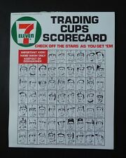 1972 7-11 Slurpee Cup Checklist Scorecard MINT UNUSED ORIGINAL 7 Eleven