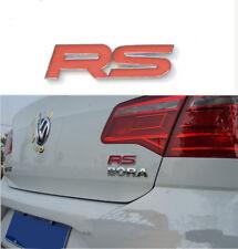Red RS Emblem Rennsport Badge Rear Trunk Decal TT GTI Focus Escape Mondeo