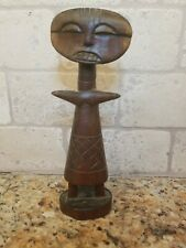 African Hand Carved Wood Tribal 8 1/2� Tall Statue Figure Art Made in Kenya