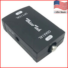 TOSlink Optical to Coax S/PDIF Coaxial Digital Audio Converter Dolby Digital DTS
