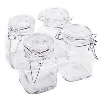 4pc Glass Mini Mason Jars Canisters Kitchen Storage Wedding Decoration Supplies