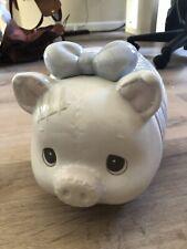 Very Rare! Precious Moments Large Piggy Bank #135569