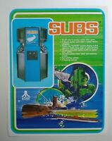 Atari Subs Arcade FLYER Original 1979 Classic Retro Video Game Paper Art Sheet